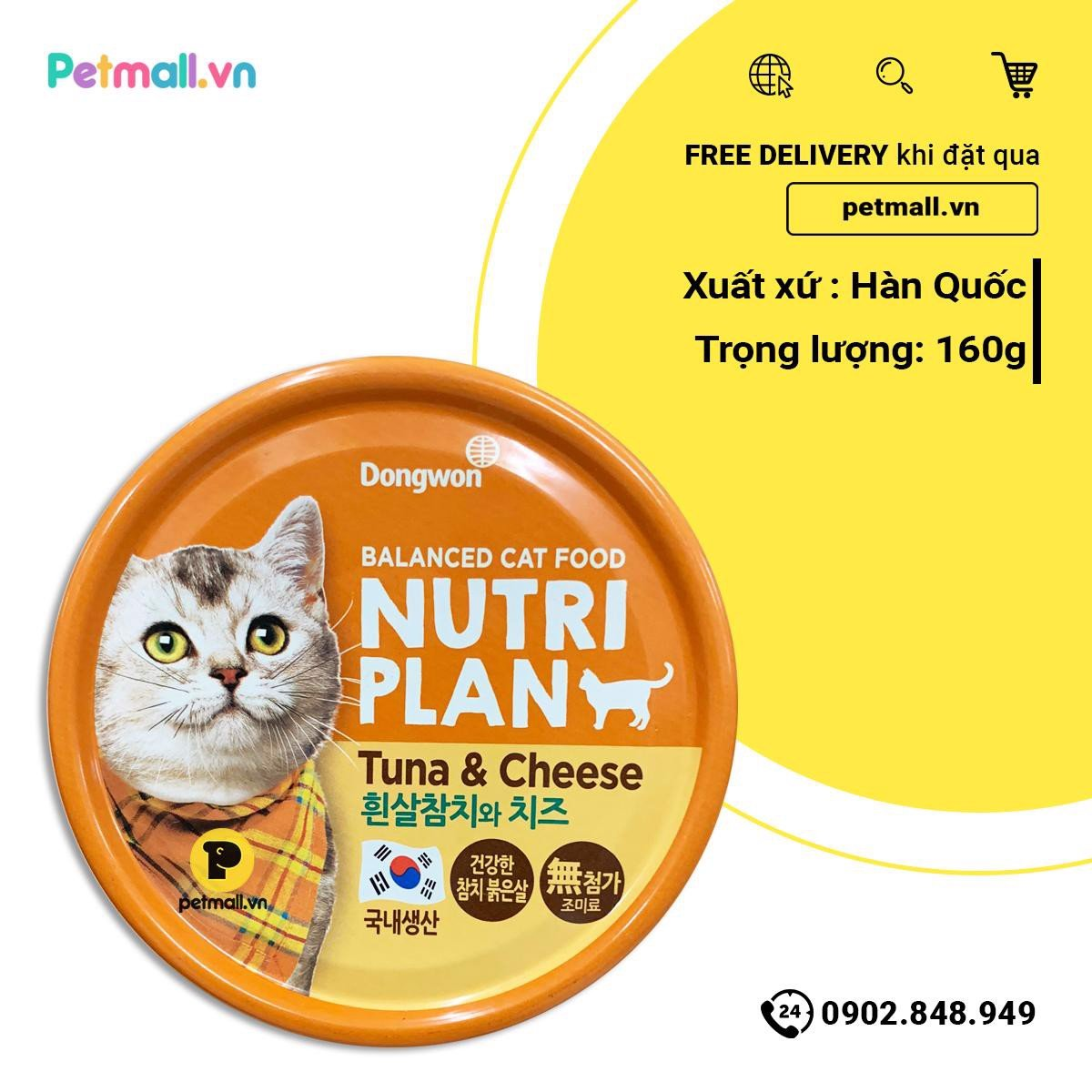 Pate mèo Nutri Plan Tuna & Cheese - 160g
