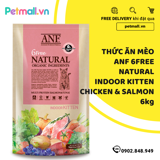 Thức ăn mèo ANF 6Free Natural Indoor Kitten 6kg - Chicken & Salmon