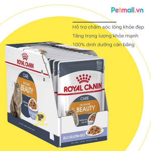 Pate mèo Royal Canin Beauty Jelly 85g - Hộp 12 gói
