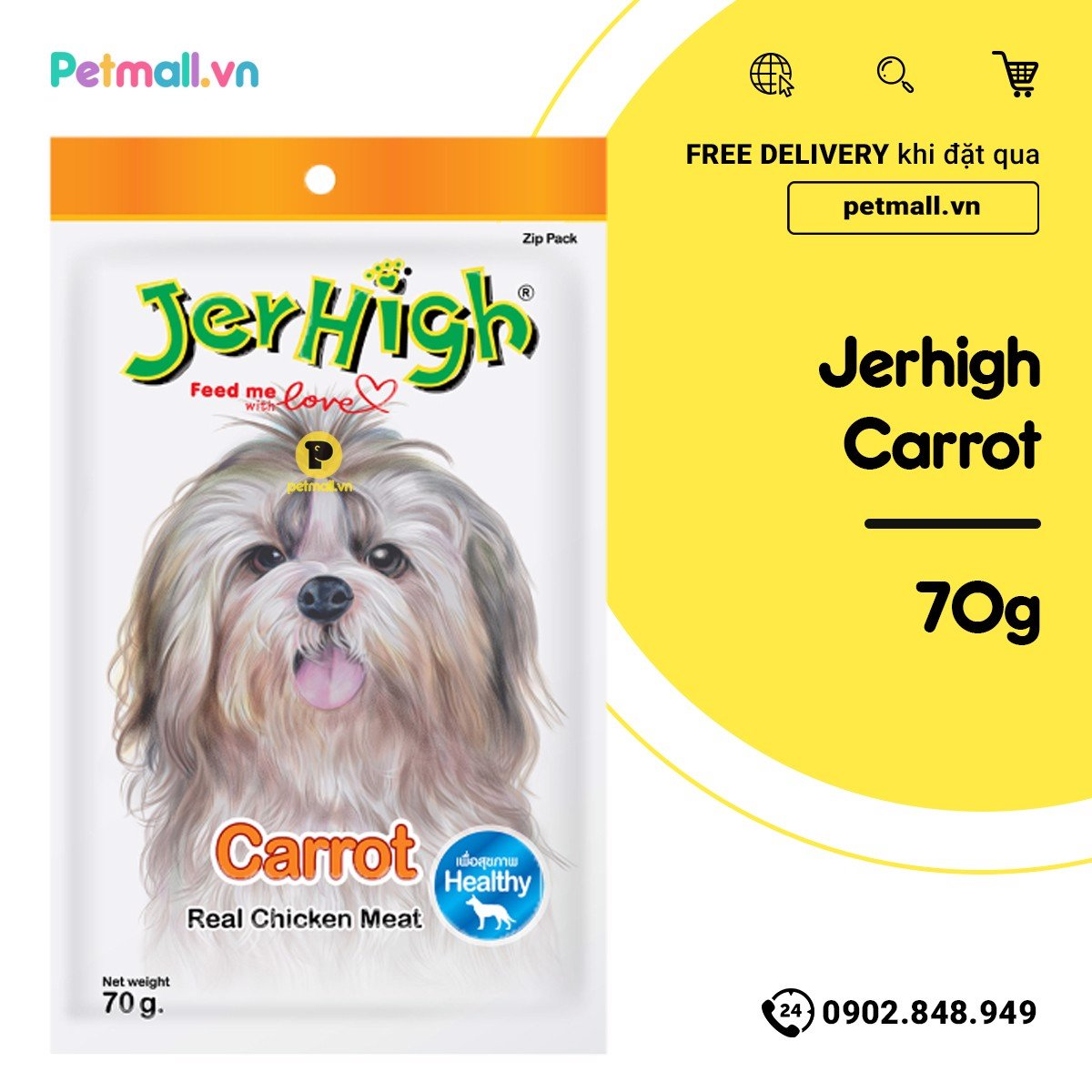 Snack Jerhigh Carrot 70g