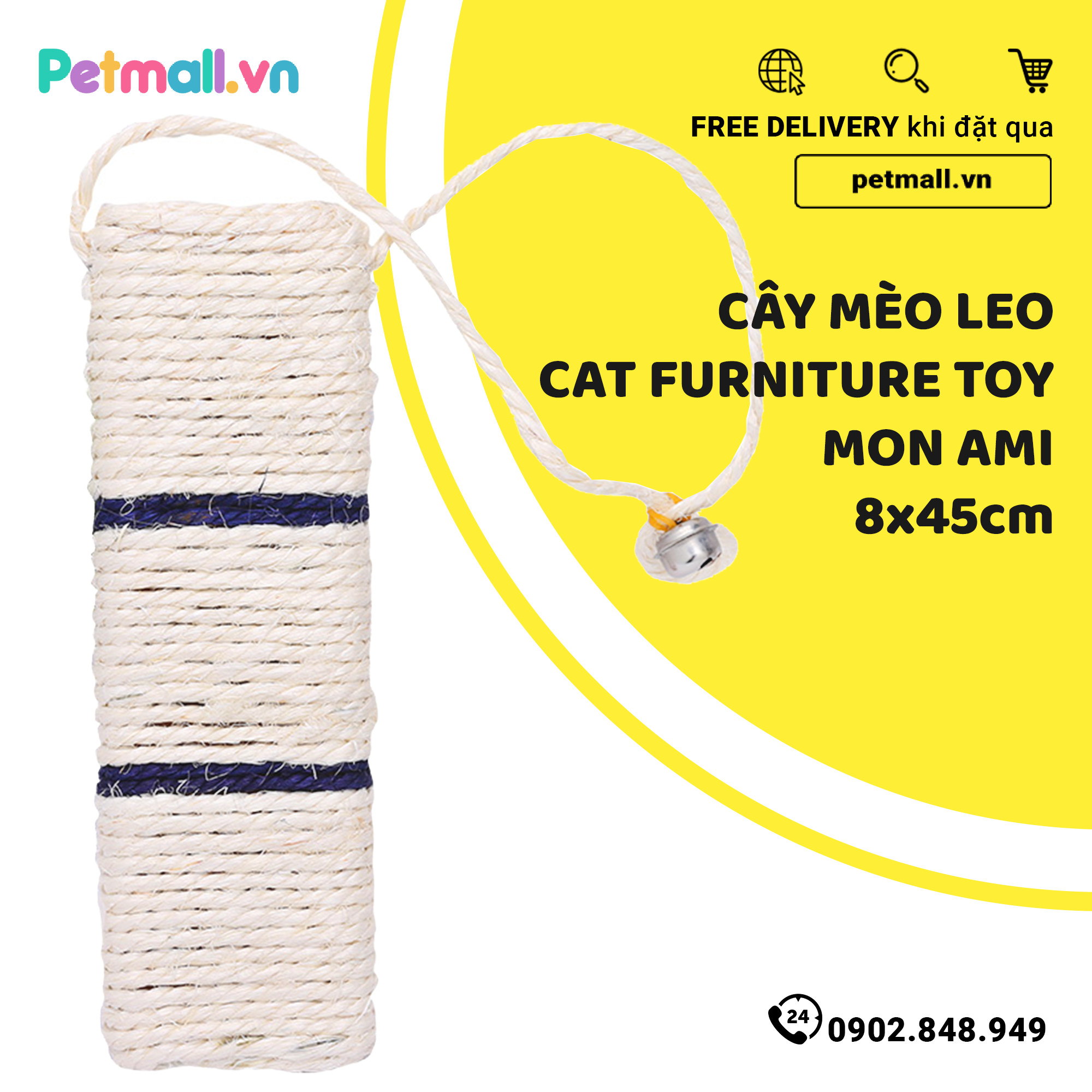 Cây mèo leo Cat Furniture Toy Mon Ami - 8x45cm