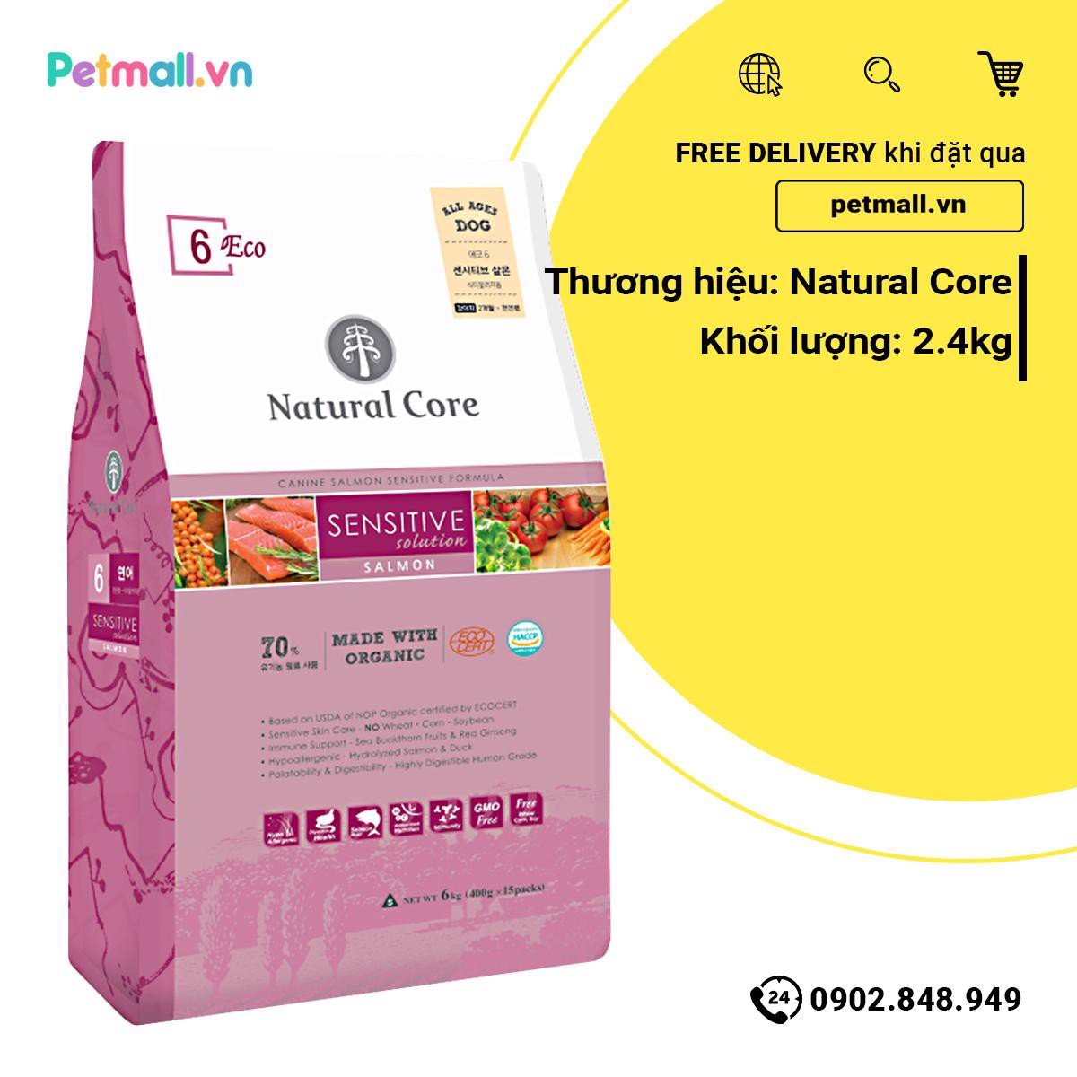 Thức ăn Natural Core Sensitive Solution 2.4kg - Salmon