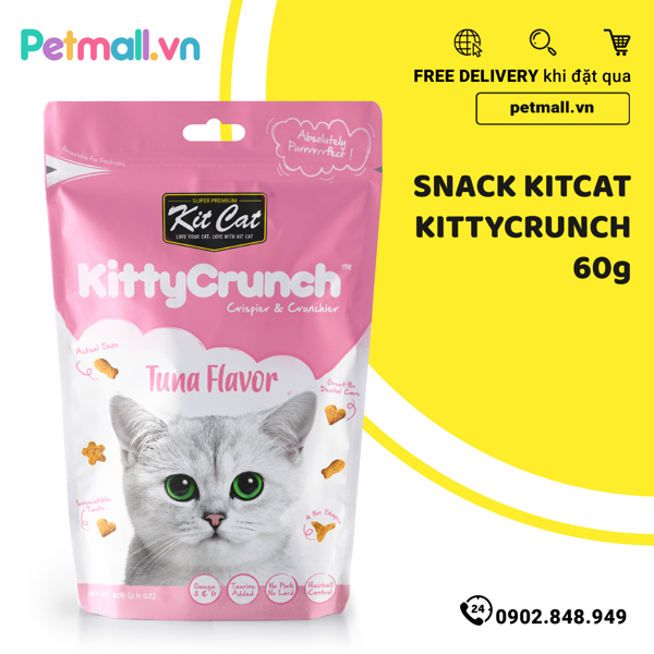 Snack mèo Kitcat KittyCrunch 60g
