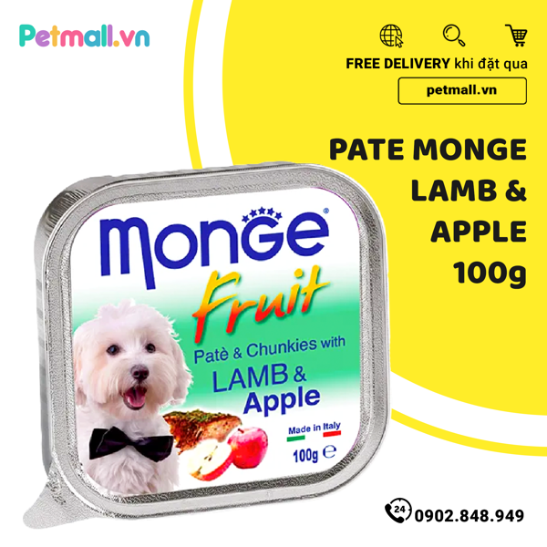 Pate Monge Chó Lamb & Apple 100g