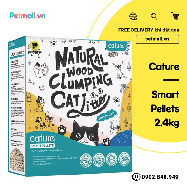 Cát gỗ CATURE Smart Pellets - 2.4kg