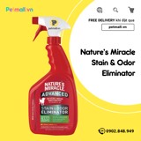 Khử mùi & vết ố Nature's Miracle Stain & Odor 946ml
