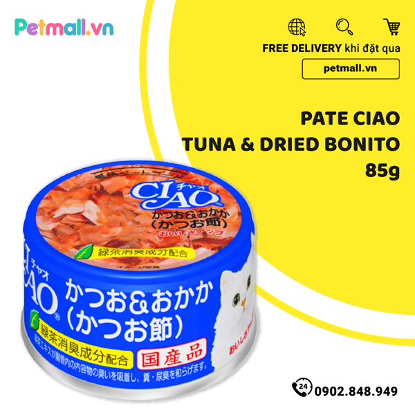 Pate Ciao Tuna & Dried Bonito 85g
