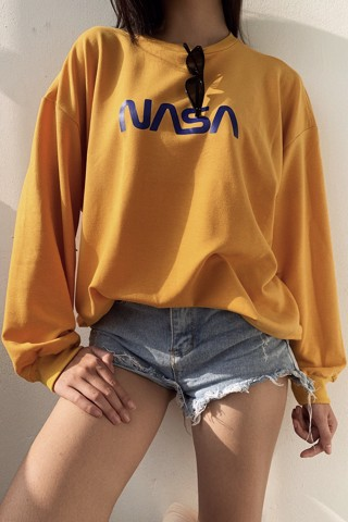 """NASA"" Sweatshirt (Yellow)"
