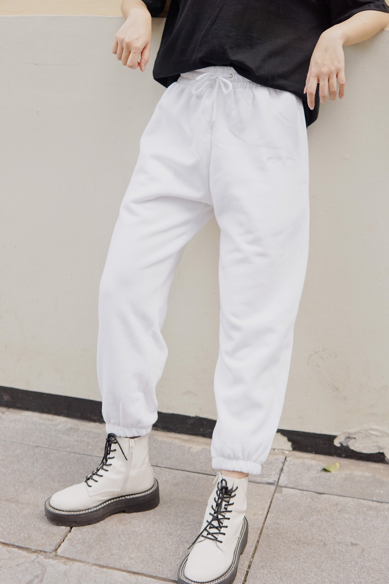 """SPREAD LOVE"" Jogger Pants (White)"