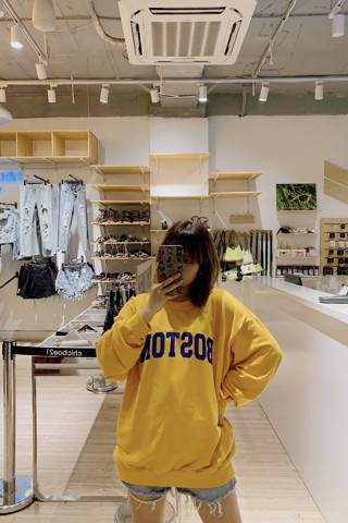 """BOSTON"" Sweatshirt (Yellow)"