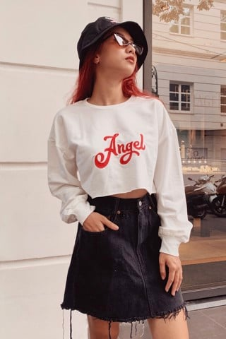"""ANGEL"" Sweater Crop Top"