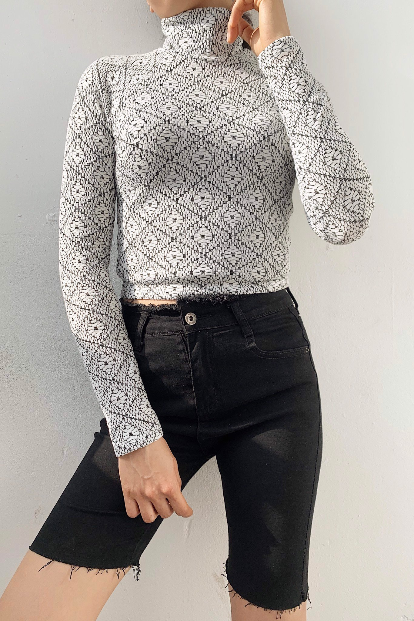 Pattern Crop Top