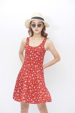 Floral Cami Dress (Red)