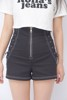 Zip Up High Waisted Shorts