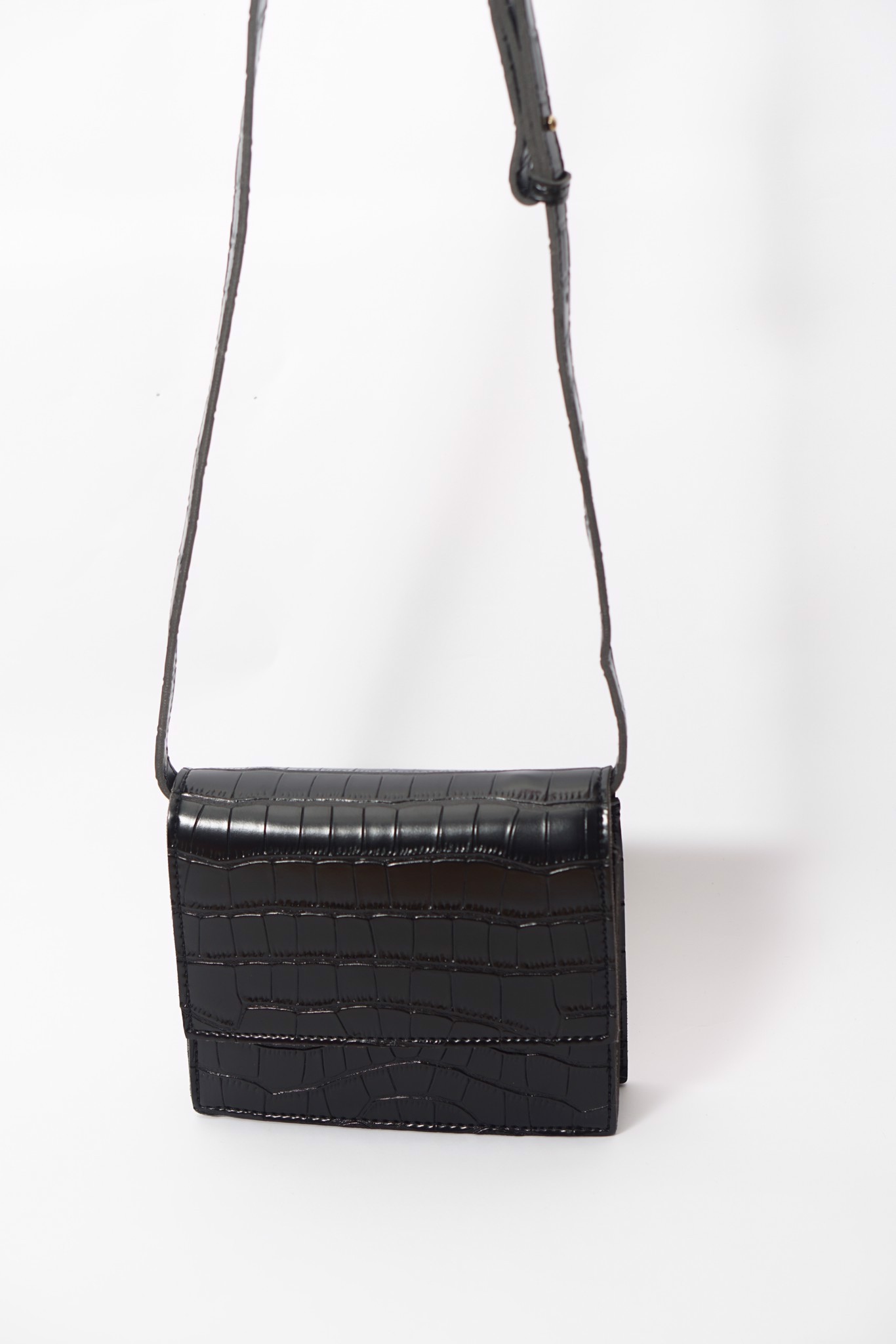 Faux Crocodile Leather Crossbody Bag