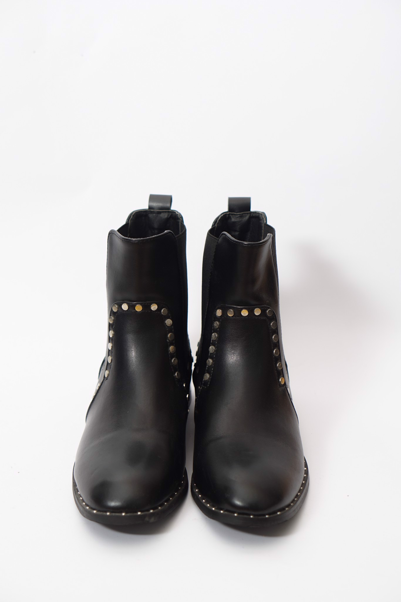 Studded Chelsea Boots Black