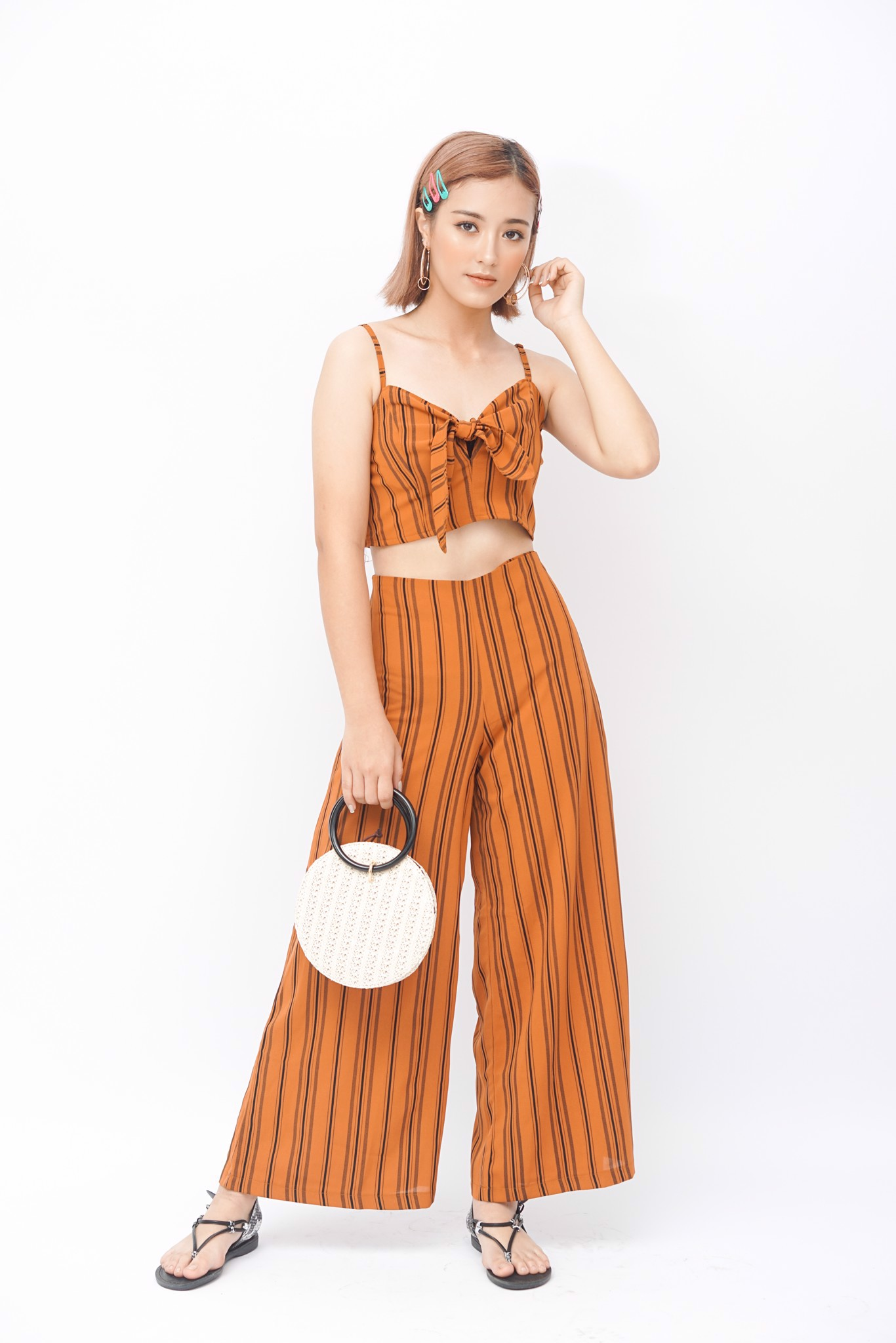 Two Piece Sets with Wide Leg Pants