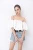 White Of-the-Shoulder Top