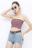 Striped Cropped Tube Top