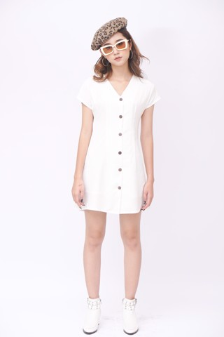 Button Down White Dress