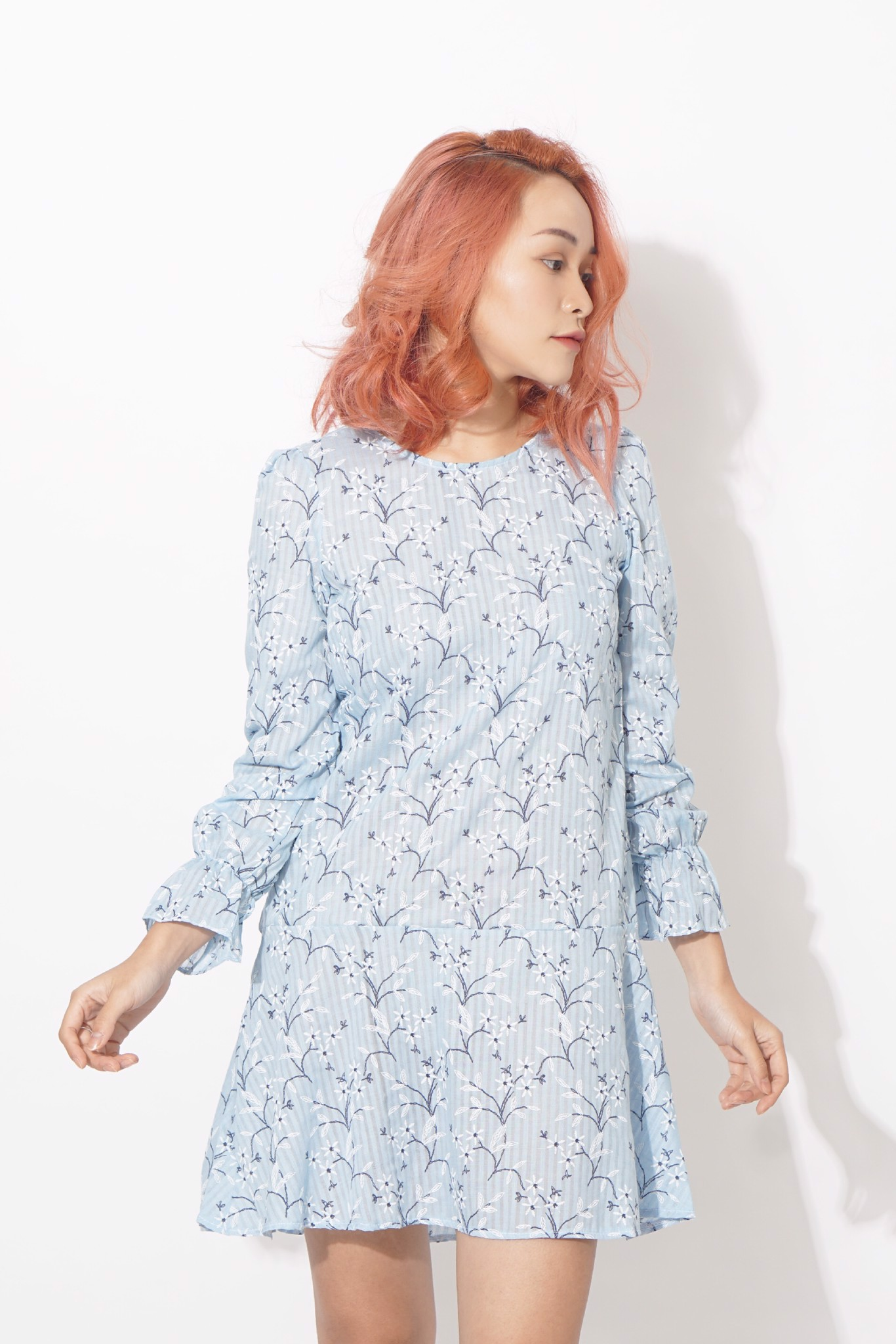 Floral Mermaid Dress (Blue)