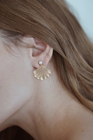 Seashell Drop Earings