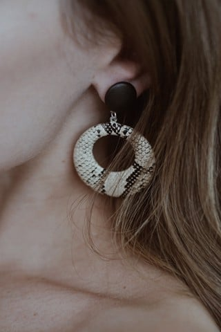 Snake Circle Drop Earings