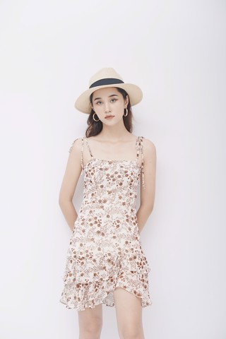 Floral Cami Dress (Beige)