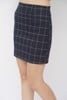 Checkered A-line Skirt