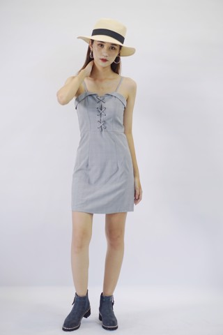 Grey Striped Cami Dress