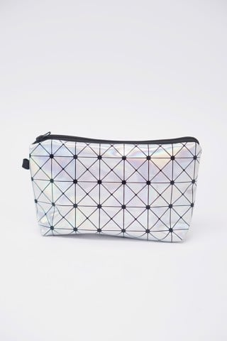 Hologram Faux Leather Makeup Bag