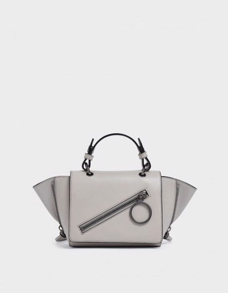 [Singapore] Túi Xách Charles & Keith Ring Zip Pocket Trapeze
