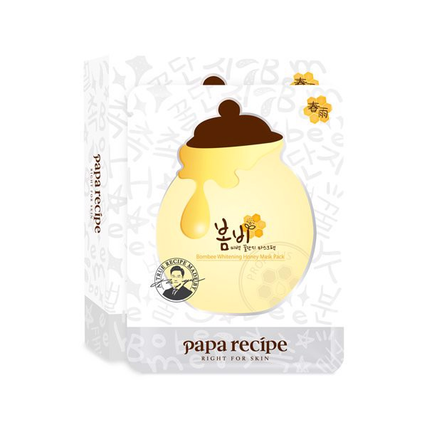 [Hàn] [3+2] Set Mặt Nạ Papa Recipe Bombee Whitening Honey Mask Pack