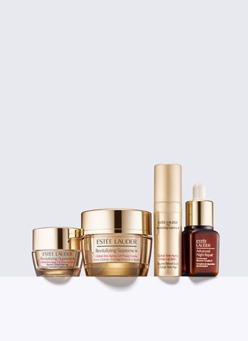 [Anh] ESTÉE LAUDER Firm + Smooth + Glow Revitalize for Firmer, Radiant-Looking Skin Gift Set Get Started With 4 Anti-Aging Formulas