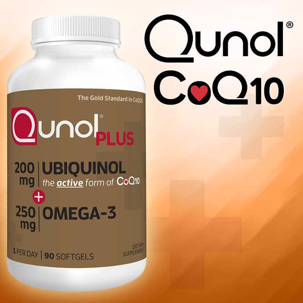 [Mỹ] Viên Uống Qunol Plus Ubiquinol 200 mg. with Omega-3, 90 Softgels