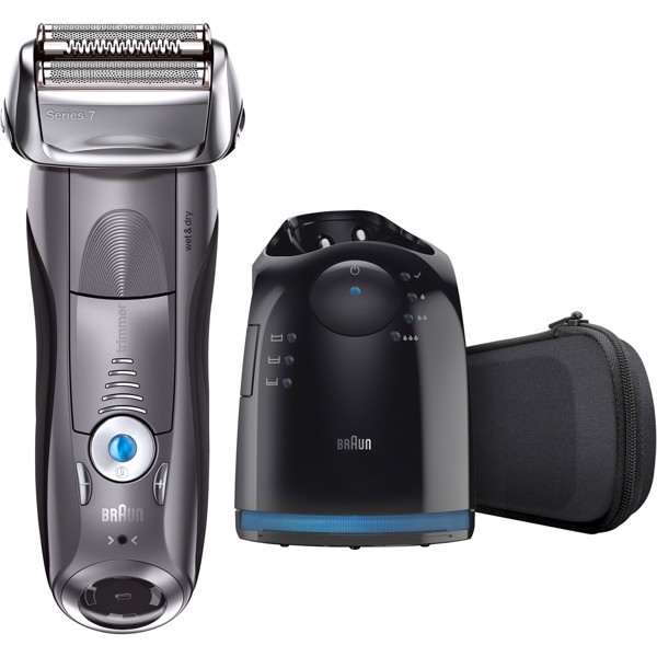 [Mỹ] Máy Cạo Râu Braun Series 7 7865cc Men's Electric Foil Shaver, Wet and Dry Razor with Clean & Charge Station