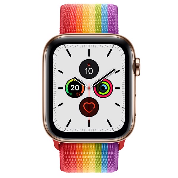 [Nhật] Đồng Hồ Apple Watch Series 5 GPS + Cellular, 44mm Gold Stainless Steel Case with Edition Sport Loop