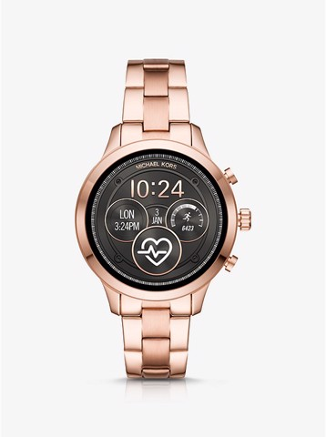 [Mỹ] Đồng Hồ Michael Kors Access Runway Heart Rate Rose Gold-Tone Smartwatch