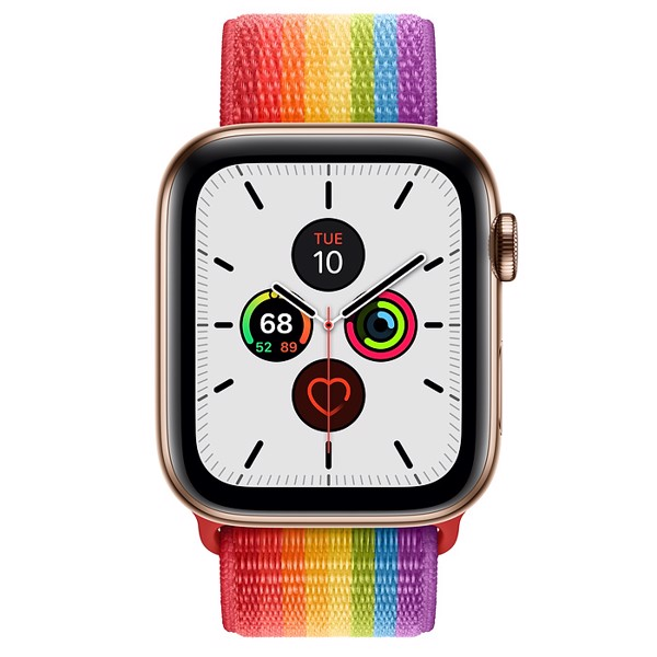 [Mỹ] Đồng Hồ Apple Watch Series 5 GPS + Cellular, 44mm Gold Stainless Steel Case with Edition Sport Loop