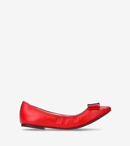 WOMEN TALI MODERN BOW BALLET - CHERRY / 5.5