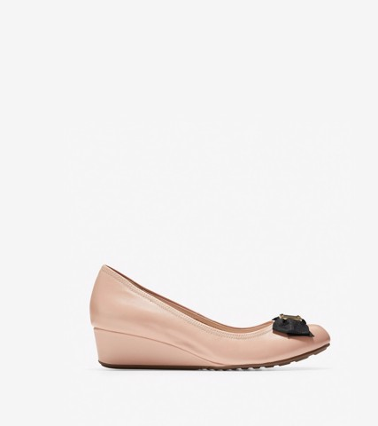 TALI SOFT BOW WEDGE (40MM) - NUDE / 5