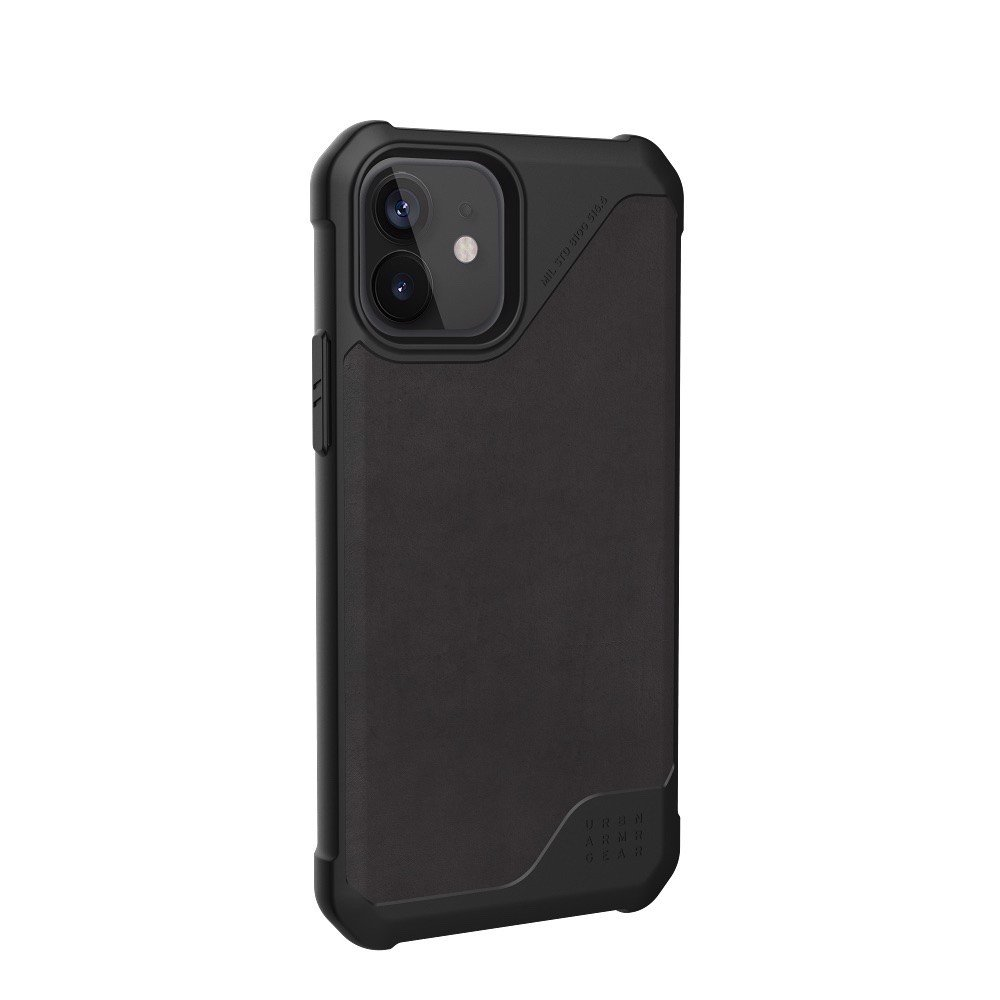 ỐP LƯNG UAG METROPOLIS LT CHO IPHONE 12 ( 6.1-INCH ) Leather Black