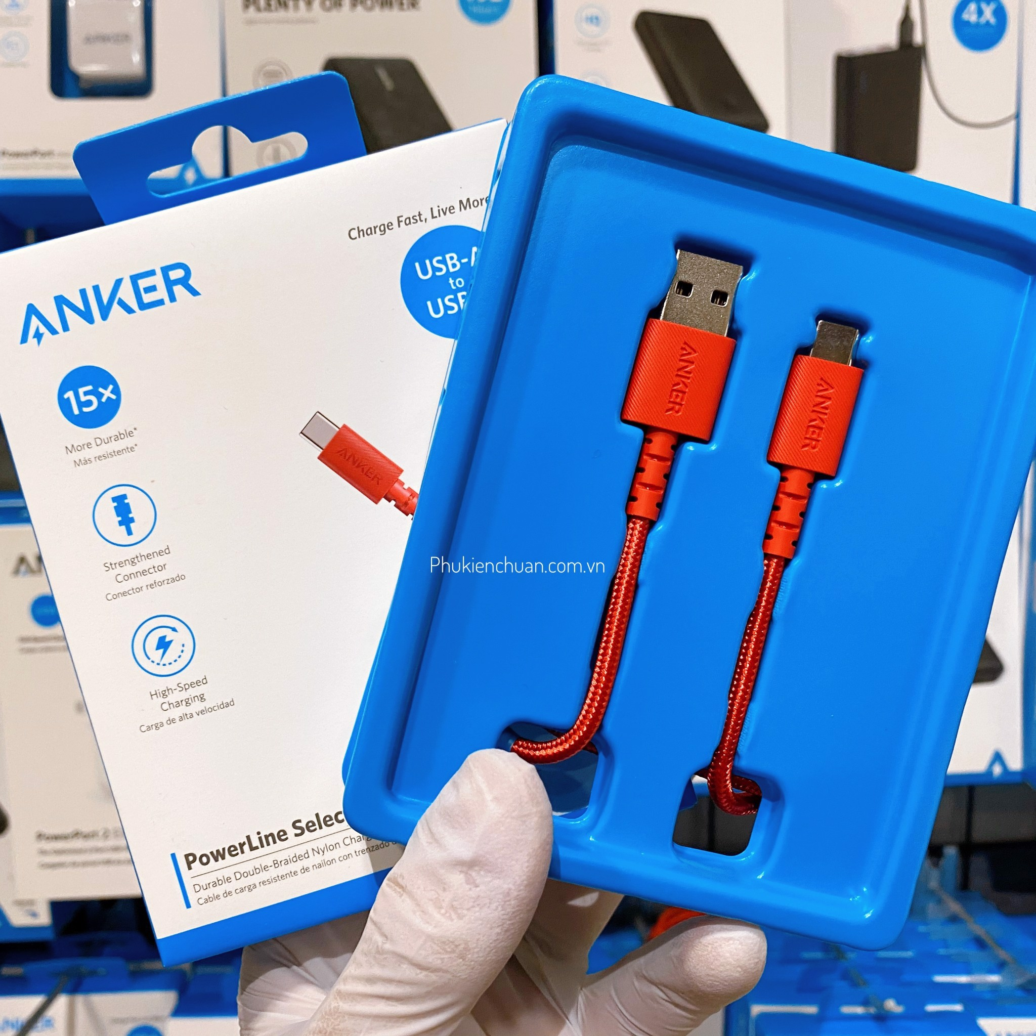 Cáp Type-C Anker PowerLine Select+ USB 2.0 dài 0.9m - Đỏ