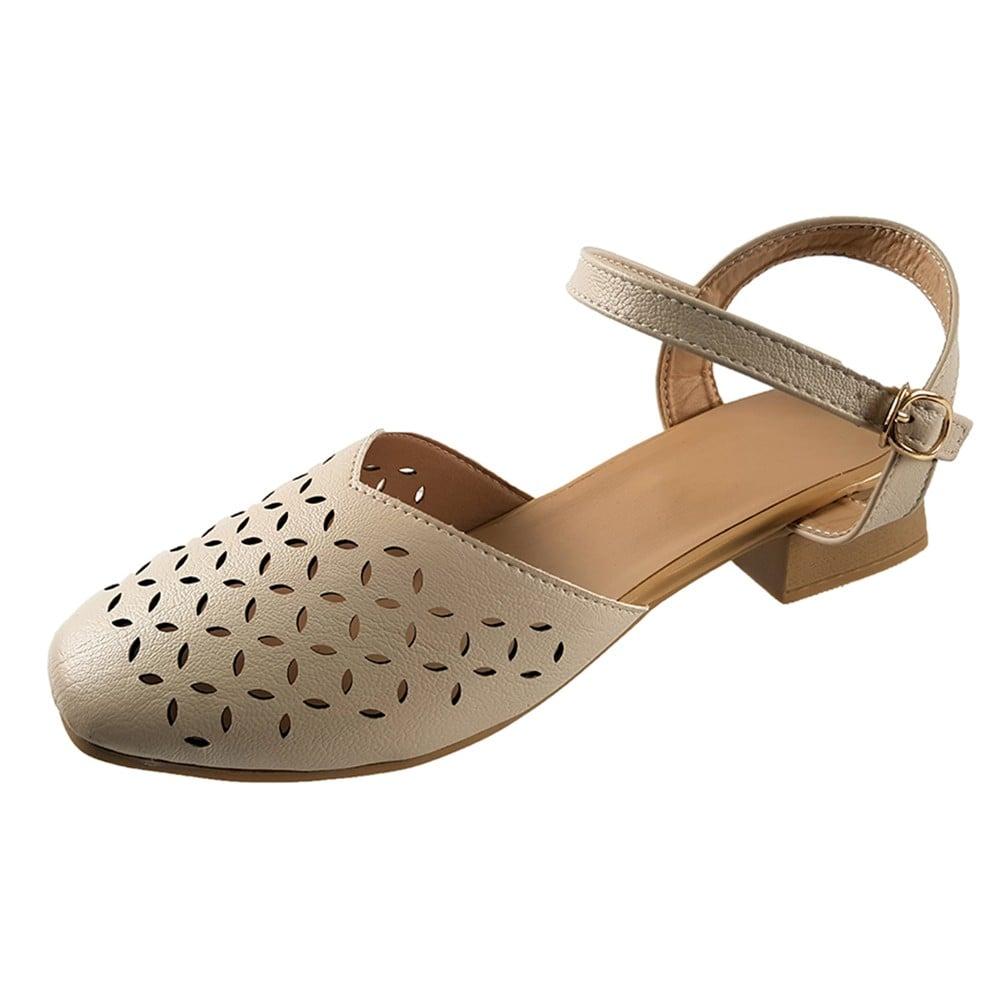 Giày Sandal Nữ Dép Cao Gót 3m Evelynv S00216 (Đen - Kem) 3
