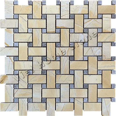 Mix Color Basket Weave Mosaic