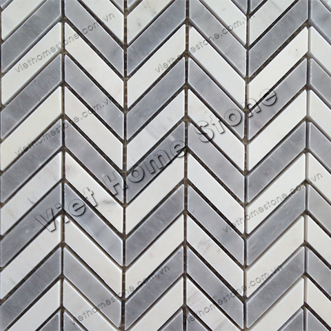 Mixed Colors Chevron Marble Mosaic