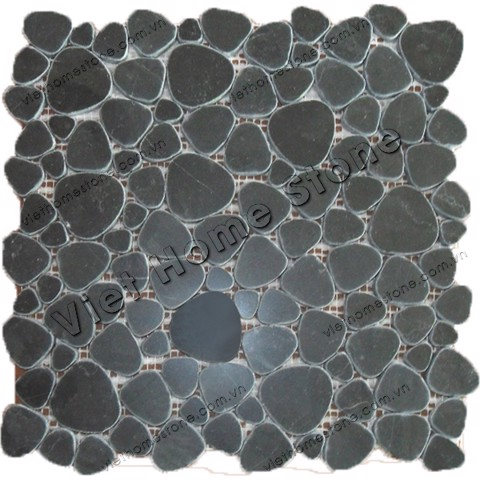 Blue Stone Crazy Pebble Mosaic