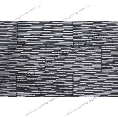 Crystal black comb chiselled