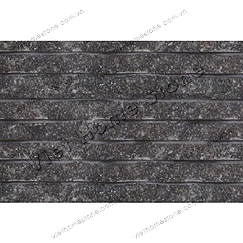 Crystal black line chiselled