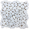 Crystal white crazy pebble mosaic